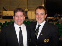 Bryan and Principal Cornet of B&R Steve Wilkinson