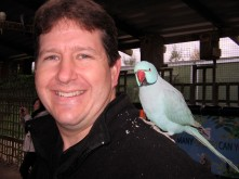 Bryan with parrot