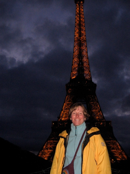 Sarah at Tour Eiffel in Paris