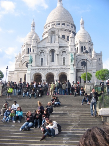 Sacre Coeur in Paris (Grandma with Hannah and Kate in the lower left corner)