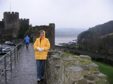 Sarah at Conwy Castle