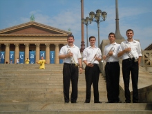 Rowan Trumpets perform on the Philly Art Museum Steps
