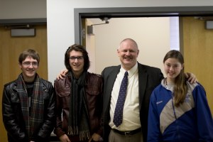 Rowan Students meet Terry