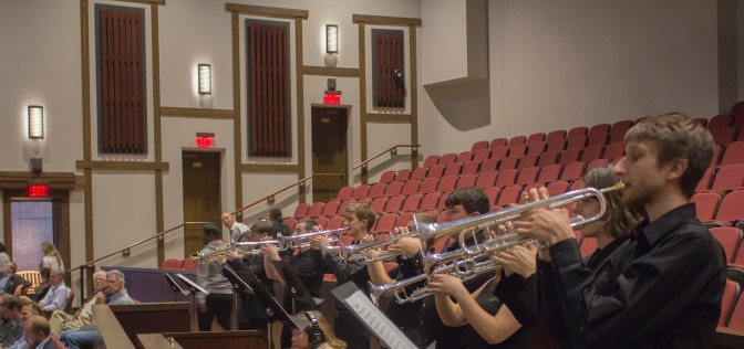 Trumpet Fanfare to Open Pfleeger after renovations